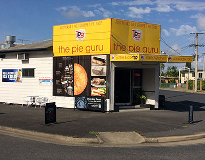Pies cakes North Rockhampton from the Pie Guru Macalister Street.